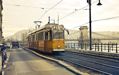 The tram at Budapest