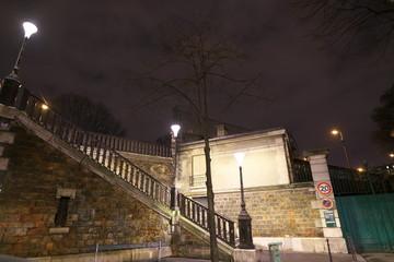 Paris,France-January 17, 2018: Montmartre cemetery is the third largest neropolic in Paris. Its sole entrance is on Avenue Rachel under Rue Caulaincourt.