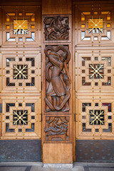 City Hall doors in Oslo