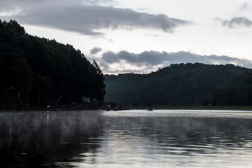 Before Sunrise at Pang Ung Lake in Mae Hong Son's city, North of THAILAND.