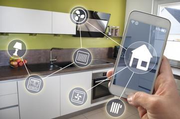 Küche Smarthome Smartphone Hausautomatioon Smart home