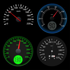 Speedometers. Sport black scales