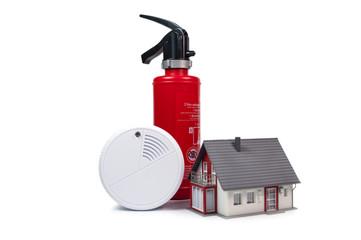 Feuerlöscher Rauchmelder Brandmelder Feueralarm