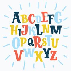 Color plasticine alphabet, isolated.