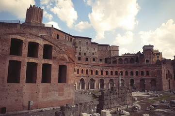 The ruins of ancient Rome.Italy