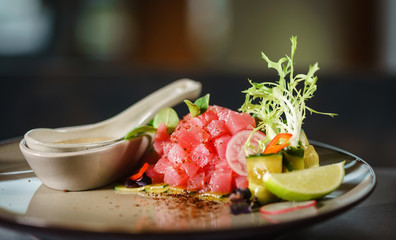 tuna tartar with sauce