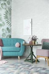 Fancy interior of living room