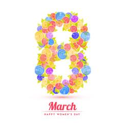 Happy Women's Day celebration design.