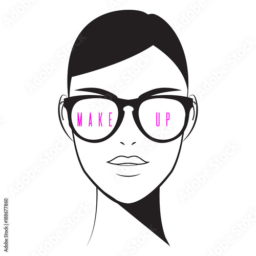 Makeup Artist Logo Cosmetics And Fashion Concept Vector Illustration With Glamour