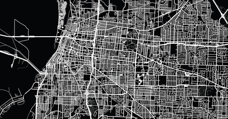 Urban vector city map of Memphis, Tennessee, USA