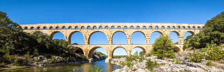 Door stickers Artistic monument Aqueduct Pont du Gard - Provence France