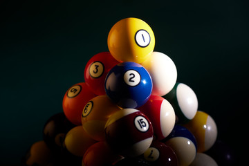 Philosophical pyramid from the billiard balls