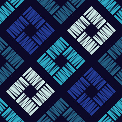 Seamless geometric pattern. A pattern of textured rectangles. Scribble texture. Textile rapport.