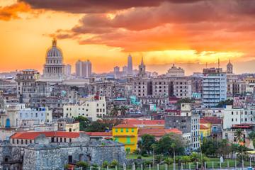 Printed roller blinds Havana Havana, Cuba downtown skyline.