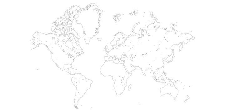 Simple vector world map
