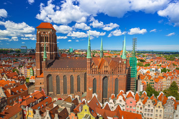 Saint Mary Cathedral in the old town of Gdansk, Poland