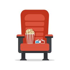 Cinema seat, isolated on white