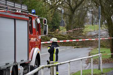 Feuerwehr beseitigt Unwetterschaden / Sturmschaden