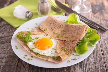 buckwheat crepe with egg
