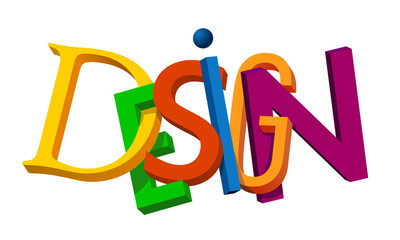 """Design"" word vector letters"