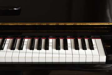 piano, close up