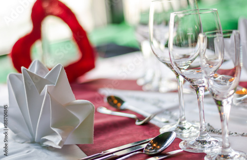 Tischdekoration Zum Valentinstag Stock Photo And Royalty Free