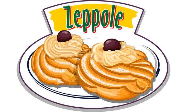 Zeppole - italian sweet - vector