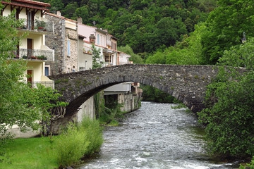 Axat in den Pyrenäen, Frankreich