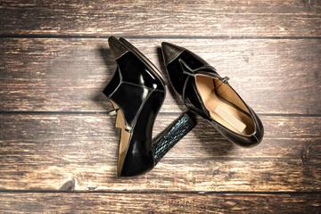 patient leather woman shoes