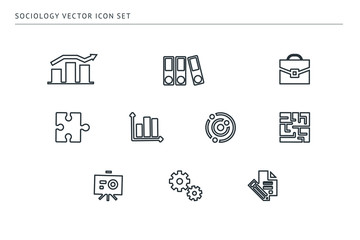 set of outline vector icons on a theme school education