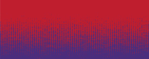 Red and Blue Halftone Banner