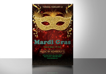 Mardi Gras Party Flyer 7