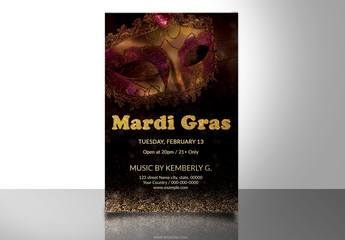 Mardi Gras Party Flyer 8