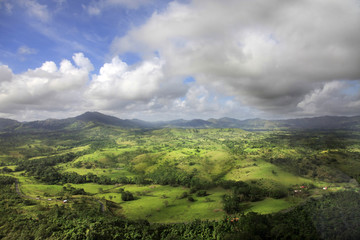 Aerial view of Cordilleras. Dominican Republic