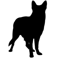 German Shepherd Dog Silhouette Vector Graphics