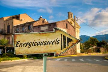 Schild 198 - Energieausweis