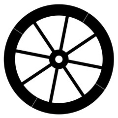 Old fashion horse vehicle waggon wheel vector eps 10