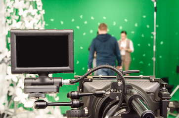 camera and green Chromakey