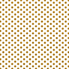 Gold Glitter Polka Dots