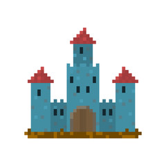 Pixel castle for games and web sites