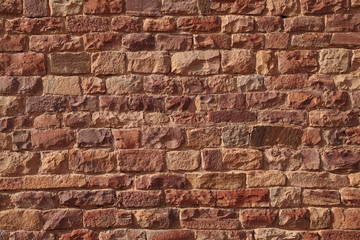 Brick pattern made by red sandstone bricks in Fatehpur Sikri complex