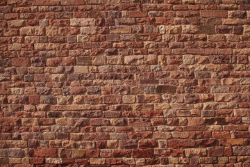 Pattern on the red sandstone walls in Fatehpur Sikri complex