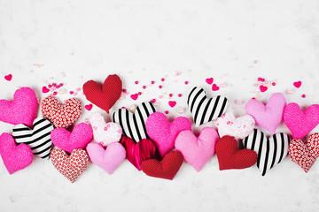 Valentines background. Hearts border