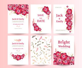 Wedding collection. Spring ornament concept. Floral poster, invite.