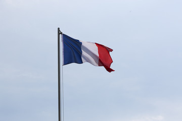 National flag of France on a flagpole