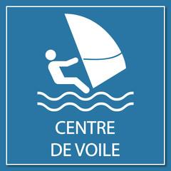 Logo centre de voile.