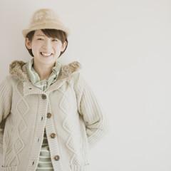 微笑む女性のポートレート