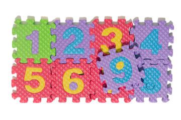 Photo sur Aluminium Crâne aquarelle Foam puzzle numbers