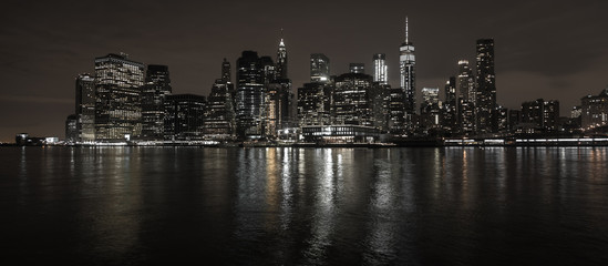 Custom blinds with your photo New York City Skyline bei Nacht