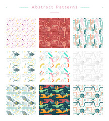 Seamless abstract pattern vector collection